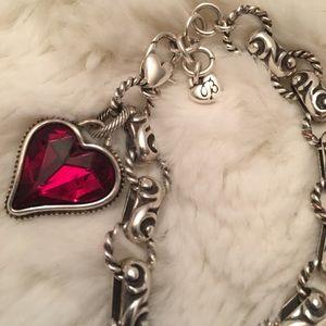 Brighton Bibi Heart Gem Bracelet Red
